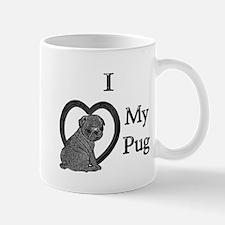 B@W Pug 1 Mug