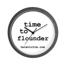 """time to flounder"" Wall Clock"
