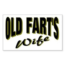 Old Fart's Wife Rectangle Decal