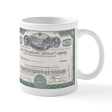 PENNSYLVANIA RR STOCK CERTIFICATE Mug