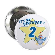 """Birthday Star 2 2.25"""" Button (10 pack)"""