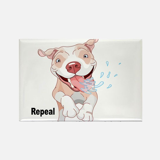For Pitties' Sake Repeal BSL Rectangle Magnet