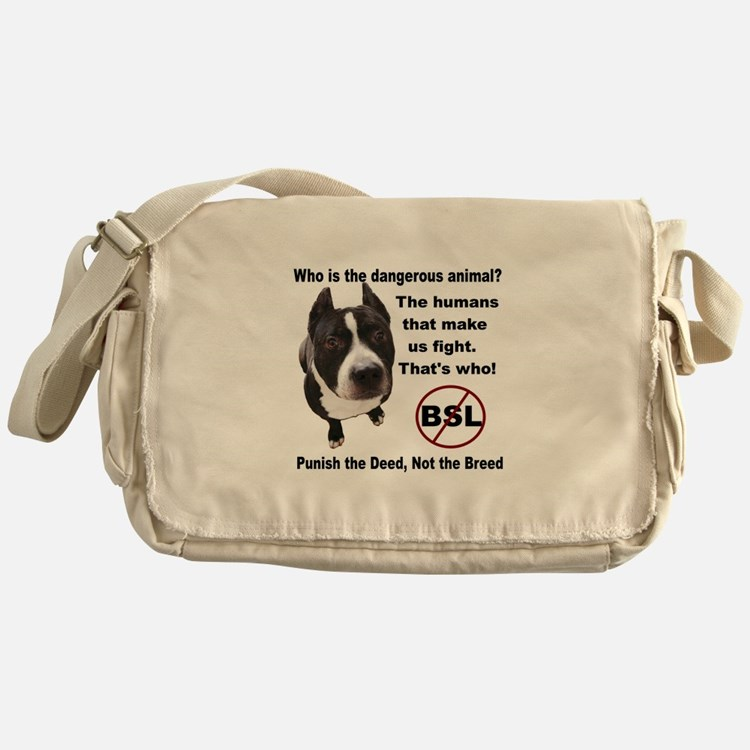 Who is the most dangerous animal? Messenger Bag