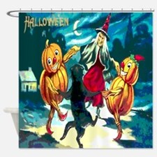 Vintage Halloween Dance Shower Curtain