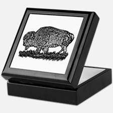 B@W Buffalo Keepsake Box