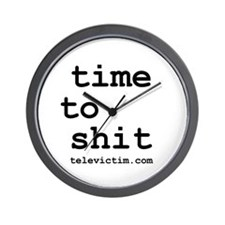 """""""time to shit"""" Wall Clock"""