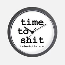 """time to shit"" Wall Clock"