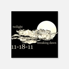 "twilightbreakingdawntile.png Square Sticker 3"" x 3"
