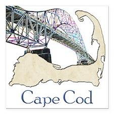 """Cute Cape cod Square Car Magnet 3"""" x 3"""""""