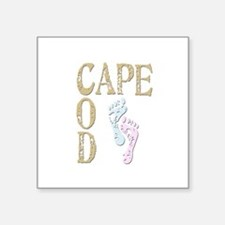 """Surf Cape Cod Square Sticker 3"""" x 3"""""""
