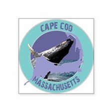 "ccwhale.png Square Sticker 3"" x 3"""