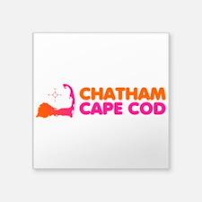 """Chatham Cape Cod Square Sticker 3"""" x 3"""""""