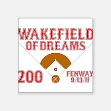 "wakefieldofdreams.png Square Sticker 3"" x 3"""