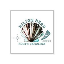 "Hilton Head South Carolina Square Sticker 3"" x 3"""