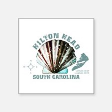 "Hilton Head South Carolina Square Sticker 3"" x 3"""