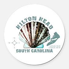 Hilton Head South Carolina Round Car Magnet
