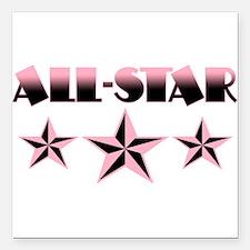 "allstar.png Square Car Magnet 3"" x 3"""