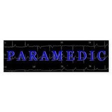 PARAMEDIC on 12lead ECG graphic Bumper Bumper Sticker