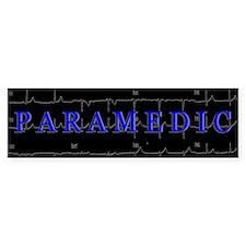 PARAMEDIC on 12lead ECG graphic Bumper Bumper Sticker