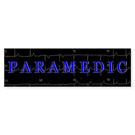 PARAMEDIC on 12lead ECG graphic Bumper Sticker