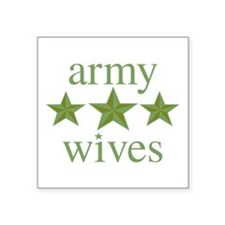"Army Wives Square Sticker 3"" x 3"""
