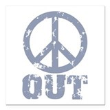 Peace symbol Square Car Magnets