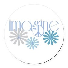 imagine.png Round Car Magnet