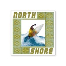 "northshore1.png Square Sticker 3"" x 3"""