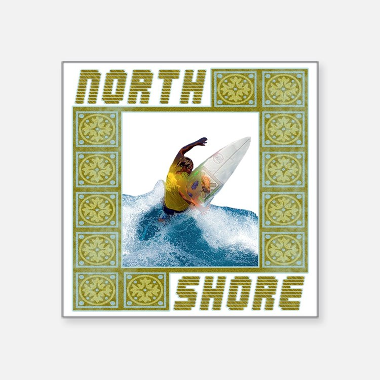 """northshore1.png Square Sticker 3"""" x 3"""""""