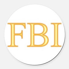 FBI - Department Of Alcohol Round Car Magnet