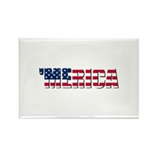 Merica USA Rectangle Magnet (10 pack)