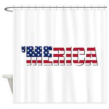Merica USA Shower Curtain