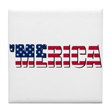 Merica USA Tile Coaster