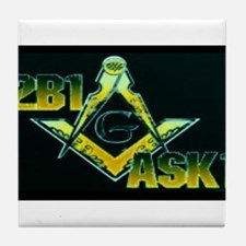 Prince Hall Masons Tile Coaster
