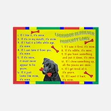 Labrador Retriever Property Laws 1 Rectangle Magne