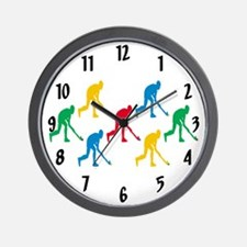 Field Hockey Wall Clock