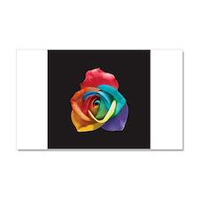 Rainbow Rose Car Magnet 20 x 12