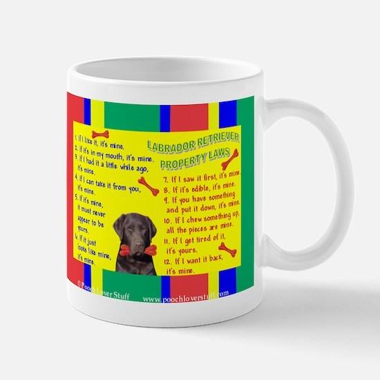 Property Laws -Lab, Chocolate Mugs