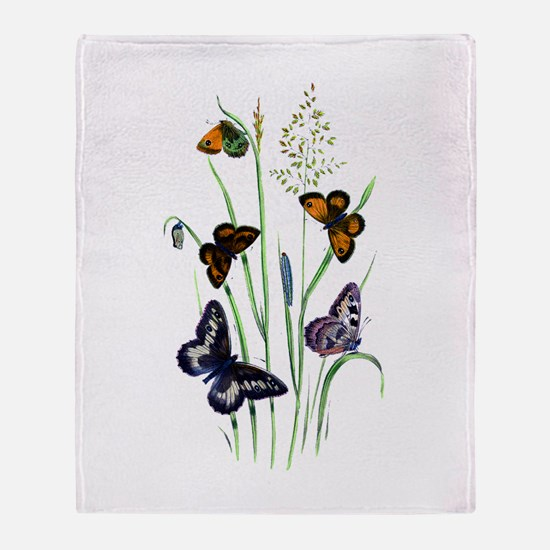 Butterflies of Summer Throw Blanket