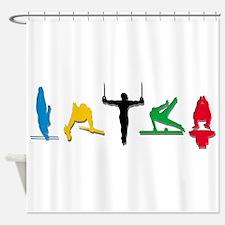 Mens Gymnastics Shower Curtain
