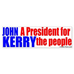 John Kerry for the People Bumper Bumper Sticker
