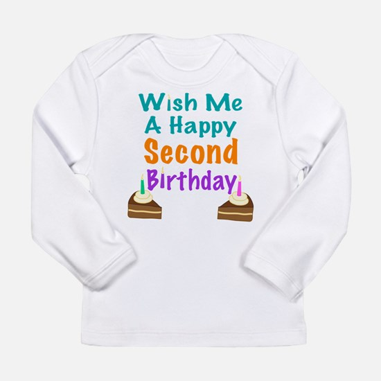 Wish me a Second Birthday Long Sleeve Infant T-Shi