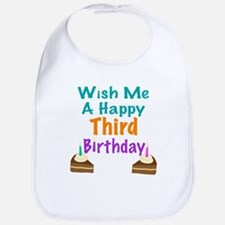Wish me a happy Third Birthday Bib