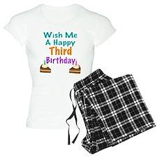 Wish me a happy Third Birthday Pajamas