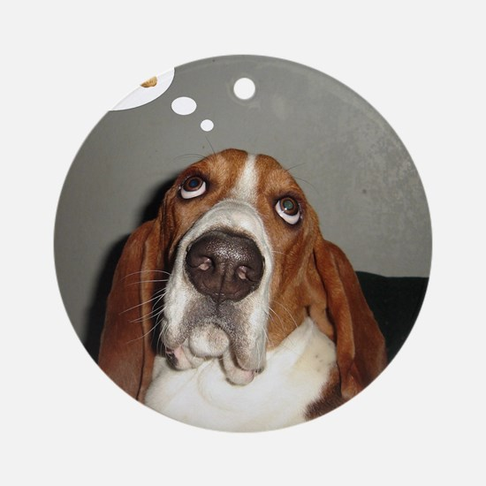 Basset thoughts Ornament (Round)