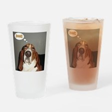 Basset thoughts Drinking Glass