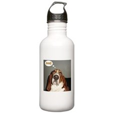 Basset thoughts Water Bottle