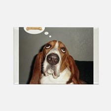 Basset thoughts Rectangle Magnet