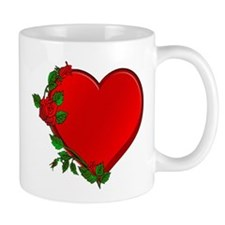 Rose Heart Border Mug
