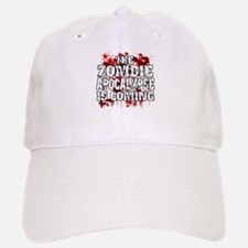 Zombie Apocalypse is Coming copy.png Baseball Baseball Cap